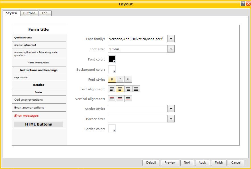 survey layout design help center worldapp knowledge base